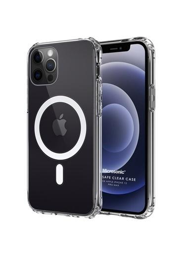 Microsonic Apple iPhone 12 Pro Max Kılıf MagSafe Clear Soft Şeffaf Renksiz